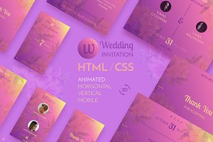 Browser wedding invitation