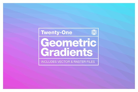 Geometric Gradient Backgrou-Graphicriver中文最全的素材分享平台