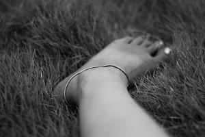 Sensuous Anklets - Black & White