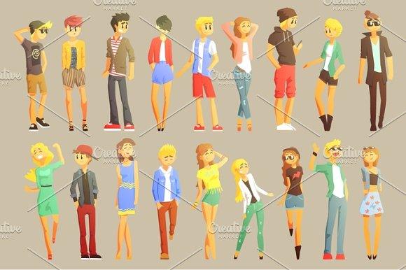Young Stylishly Dressed People
