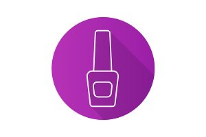 Nail polish bottle icon. Vector