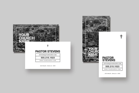church business card template business cards - Pastor Business Cards