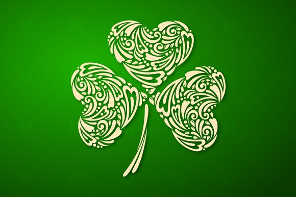 St. Patrick's day clover - Illustrations