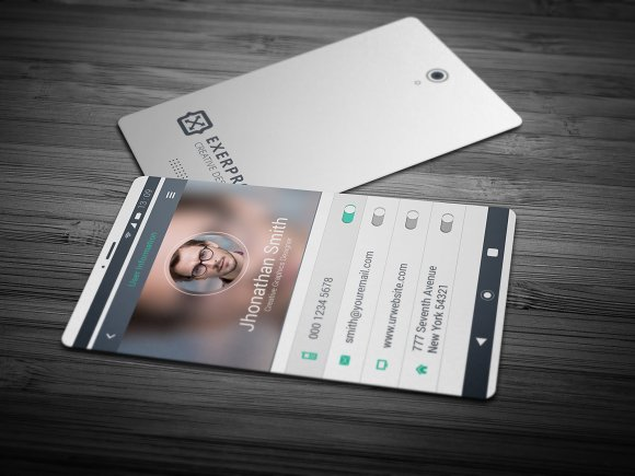 Smart Phone Style Business Card Business Card Templates Creative