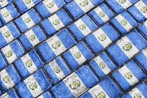Guatemala Flag Urban Grunge Pattern