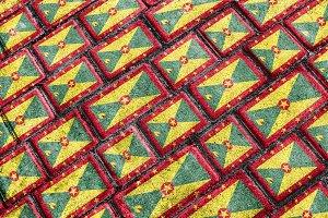 Grenada Flag Urban Grunge Pattern