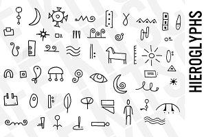 Hieroglyphs Clip Art Set