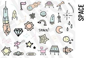 Space Doodle Clipart