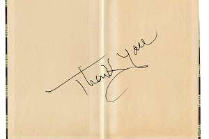 Thank you message on book page
