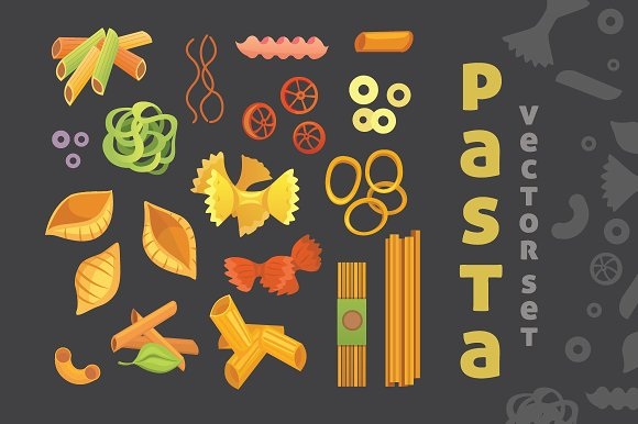 Vector Set Of Pasta