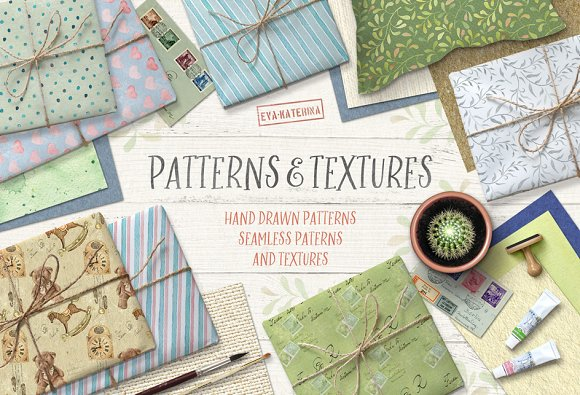 Watercolor Patterns and Textures-Graphicriver中文最全的素材分享平台