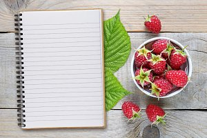 Raspberry and recipe book
