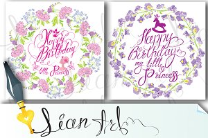 2 Holiday greeting cards for girls
