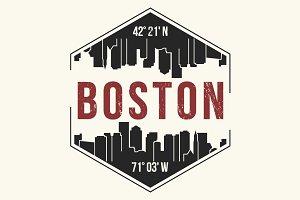 Boston tee design