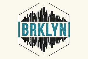 Brooklyn New York tee design