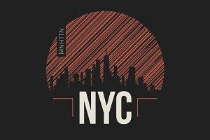 NYC tee design