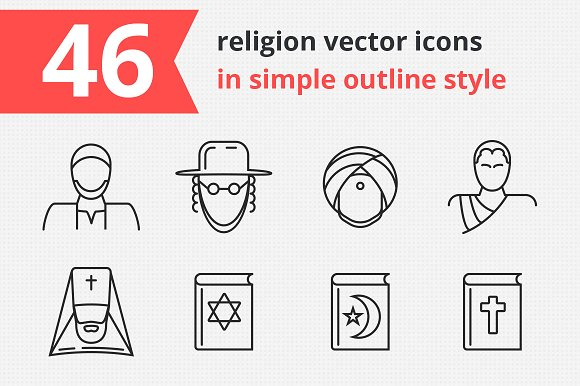 46 Religion Vector Icons