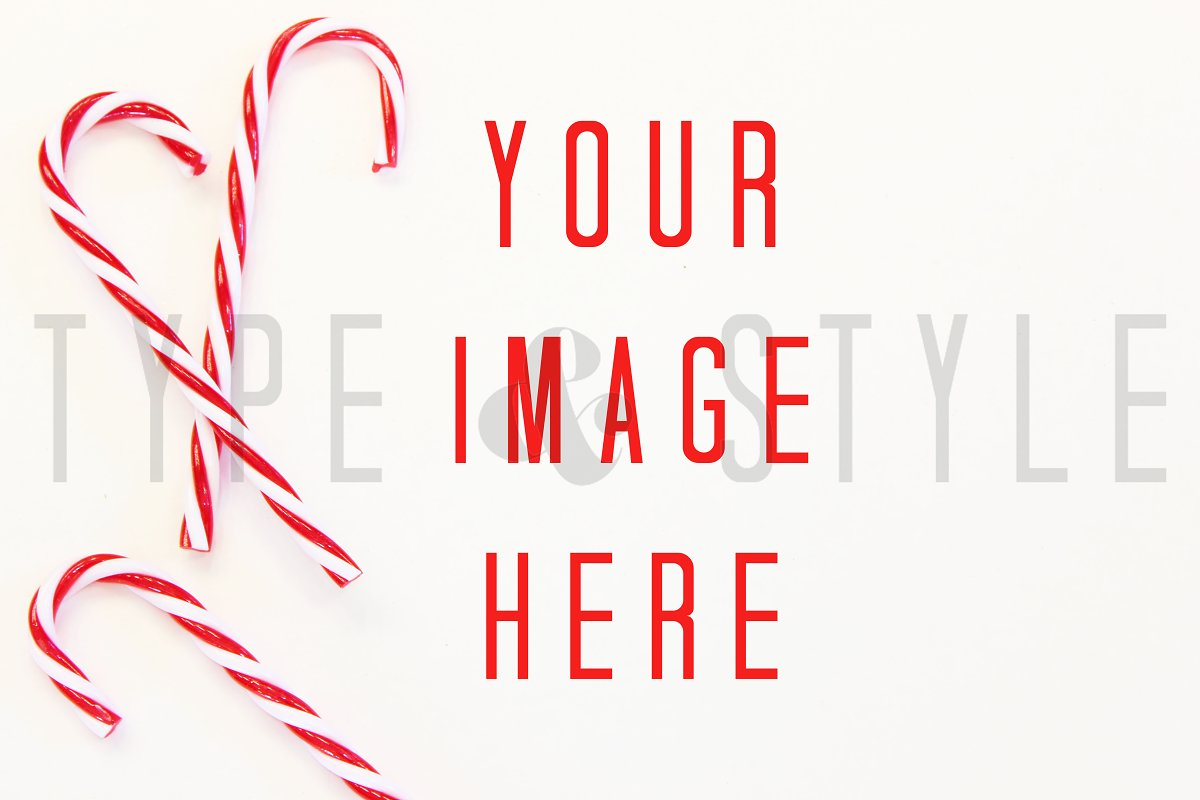 Styled Stock Photo - Candy Cane in Mockup Templates - product preview 8