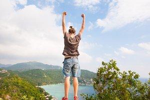 Winner on the mountain top