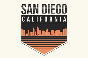 San Diego tee design