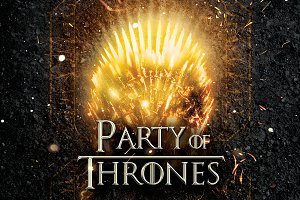 Party Of Thrones Poster Template