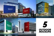 5 Outdoor Advertising Mockups