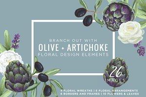 Artichoke & Olive Floral Design Kit