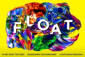 Float: Isolated Paint Textures