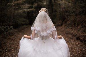 Wedding dress on girl