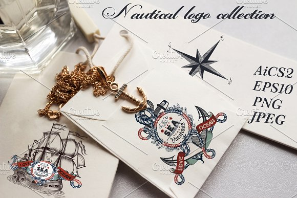 Nautical logotypes set-Graphicriver中文最全的素材分享平台