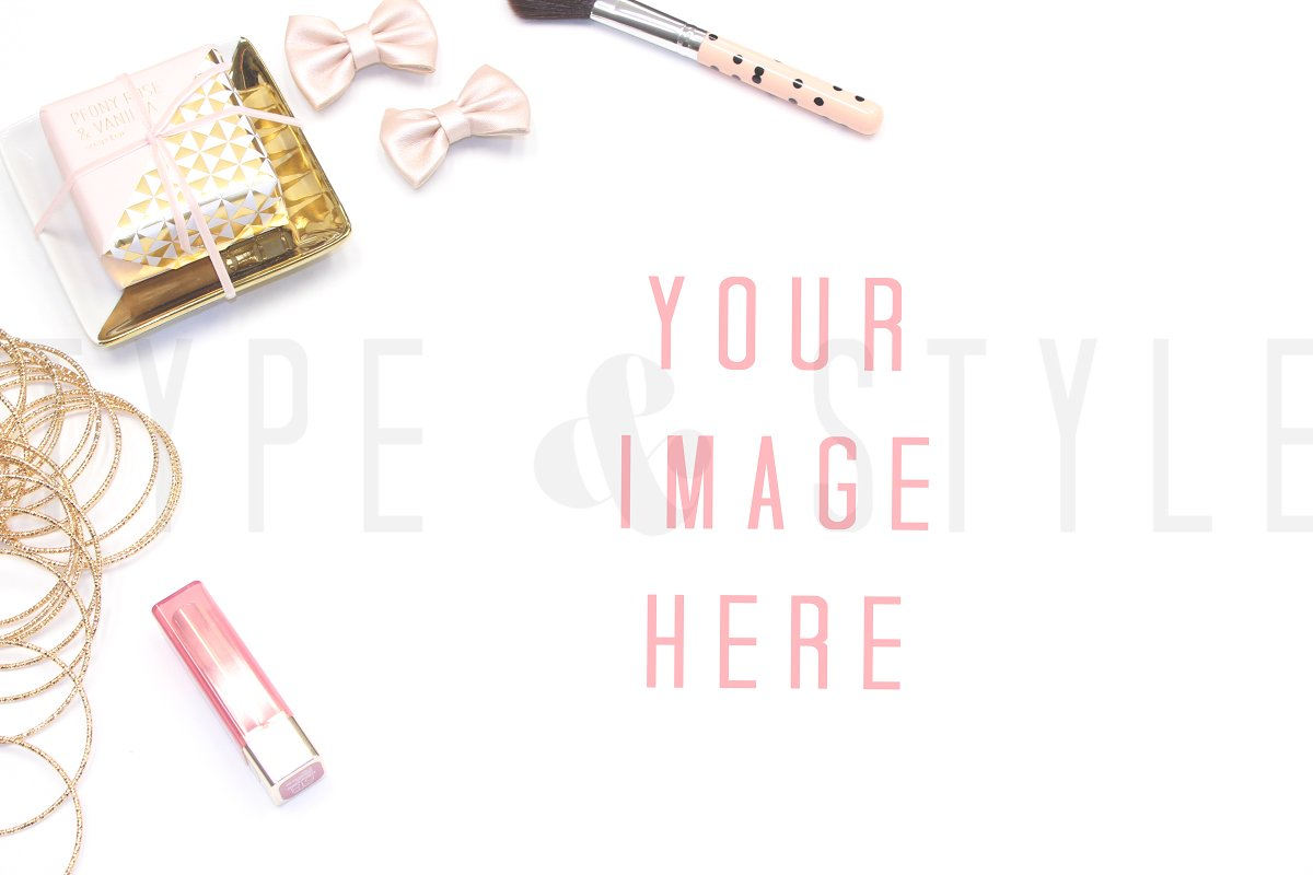 Styled Stock Photo - Pink Vanity in Product Mockups - product preview 8