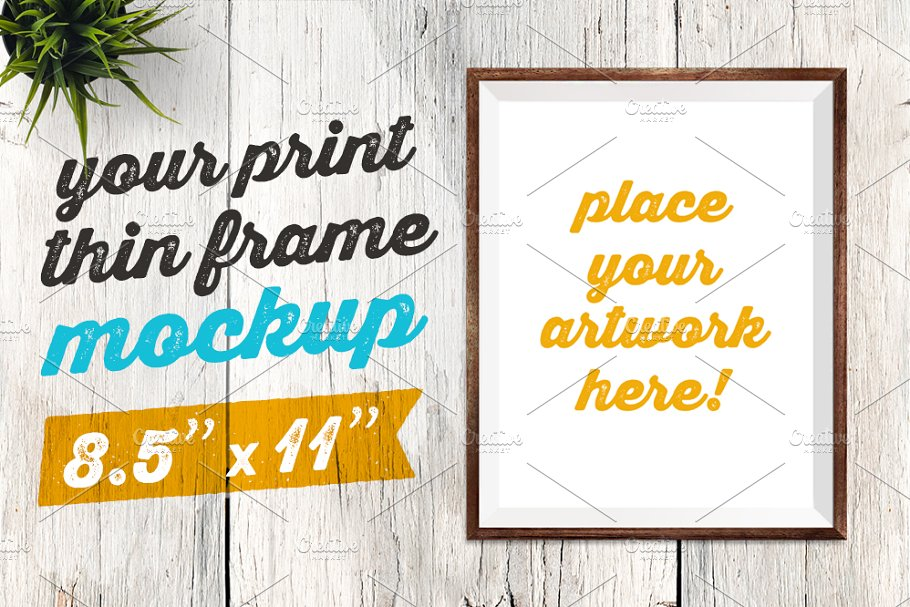 Your Print Thin Frame Mockup in Print Mockups - product preview 8