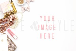Styled Stock Photo - Vanity Mock up
