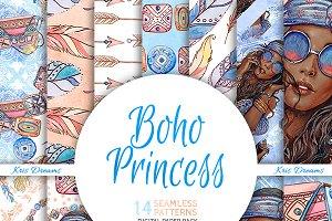 Boho Princess Digital Paper