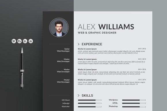 resume cv resume templates creative market