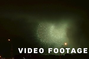 Fireworks show in holiday