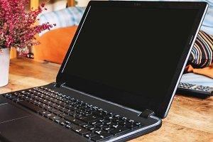 Close up Screen laptop