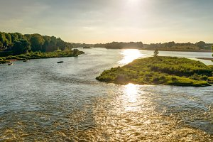 The Loire at sunset