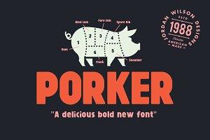 Porker Font (+ Bonus Pack)