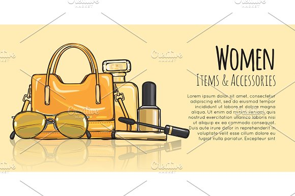 Women Items And Accessories Yellow Female Objects