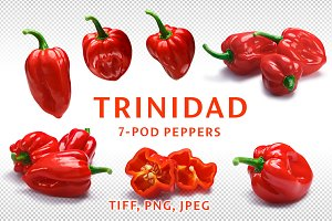 Trinidad 7-Pod peppers