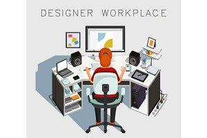 Gaphic designer at work