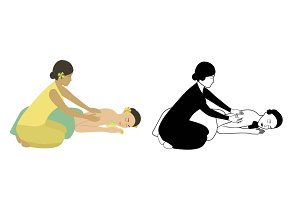 Wellness massage illustration
