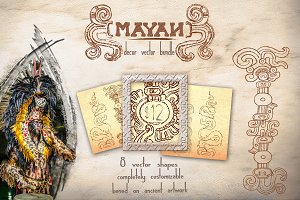 bundle: mayan decor vectors