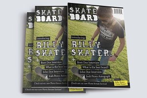 Skateboard Magazine Template