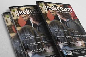 Barcamp-Geekcamp Magazine Template