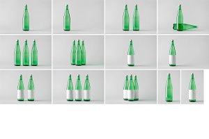 Water Bottle Mock-Up Photo Bundle 2