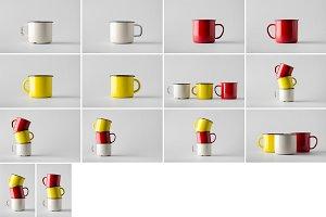 Enamel Mug Mock-Up Photo Bundle