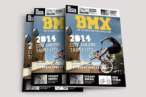 Bmx Bikes Sports Magazine Template