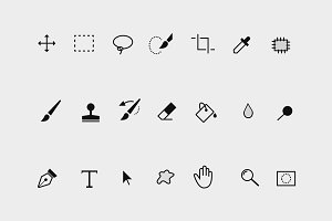21 Photoshop Toolbar Icons